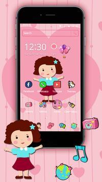 Cute Girl Pink Kawaii Theme poster