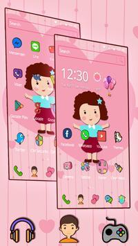 Cute Girl Pink Kawaii Theme screenshot 1