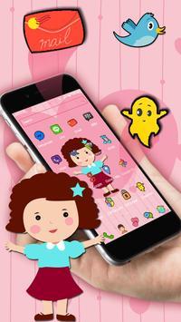 Cute Girl Pink Kawaii Theme screenshot 2