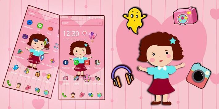 Cute Girl Pink Kawaii Theme screenshot 3