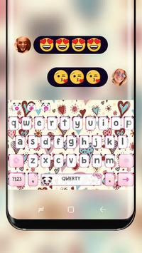 Cute Pink Love Heart Keyboard Princess Beauty poster