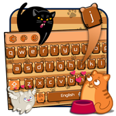 cute cat keyboard brown maine coon icon