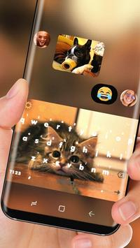 Cute Brown Cat Keyboard Adorable Pet Kitty apk screenshot