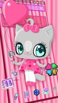 Kitty Love Cute Theme apk screenshot