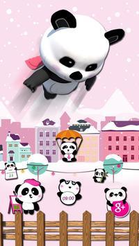 3d pink super panda theme poster