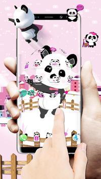 3d pink super panda theme screenshot 1