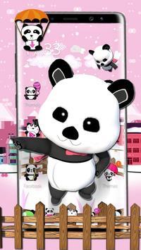 3d pink super panda theme screenshot 2