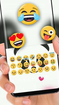 cute Panda Face Theme screenshot 1