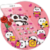 Pink Panda Cute Icons icon