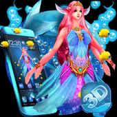 Cute Mermaid Princess 3D Theme icon
