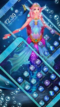 Cute Mermaid Princess 3D Theme screenshot 1