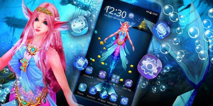 Cute Mermaid Princess 3D Theme screenshot 3