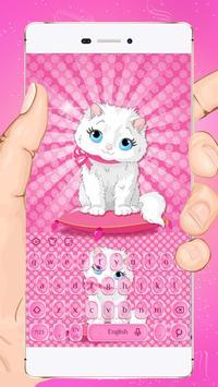 Pink Kitty Keyboard Theme poster