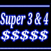 Super pick 3&4 Lottery icon