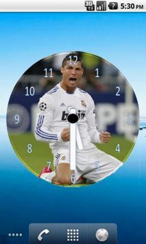 Cristiano Ronaldo Clock Widget poster