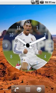 Cristiano Ronaldo Clock Widget apk screenshot