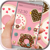 cupcake donuts pink cute theme icon