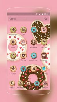 cupcake donuts pink cute theme apk screenshot