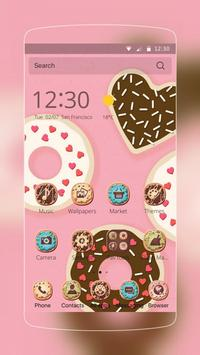 cupcake donuts pink cute theme poster
