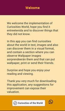 Curiosities of the World apk screenshot