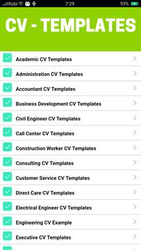 Cv templates for android apk download cv templates screenshot 5 accmission Choice Image