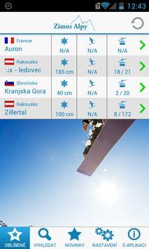 Zimní Alpy poster