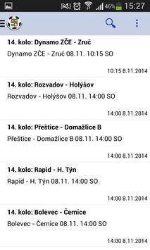Můj fotbal - KP Plzeňský kraj स्क्रीनशॉट 1