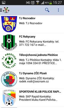 Můj fotbal - KP Plzeňský kraj स्क्रीनशॉट 2