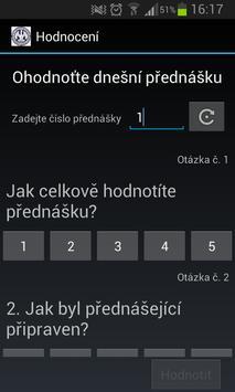 Hodnocení přednášek screenshot 2