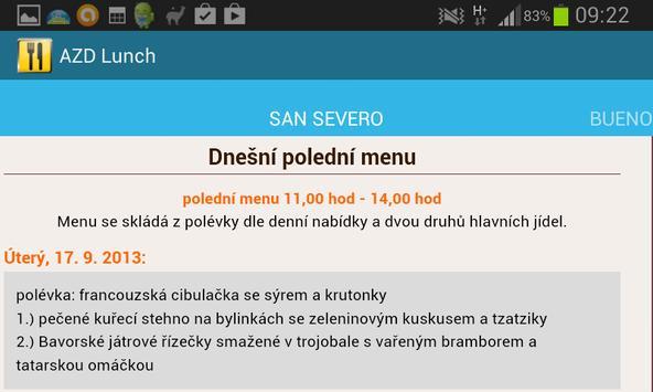 AZD Lunch screenshot 1