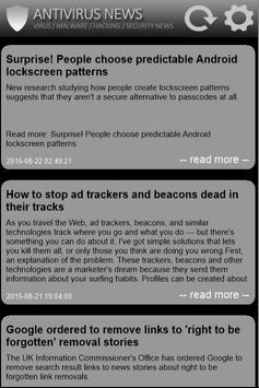 Free Antivirus 2017 News apk screenshot