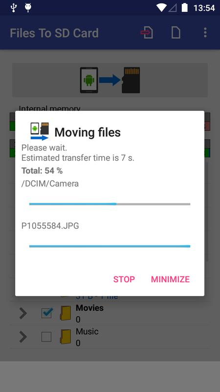 how to move files to sd card