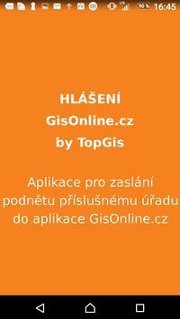 Hlášení GisOnline.cz poster