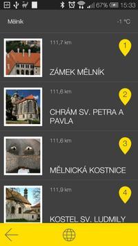 Mělník - audio tour apk screenshot