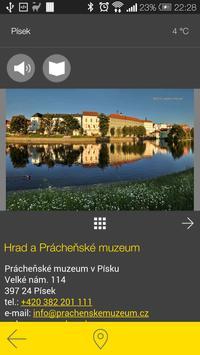 Písek - audio tour apk screenshot