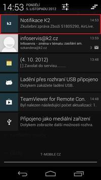 K2 Notifikace apk screenshot