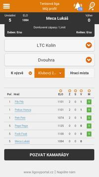 Tenis - Ligový portál screenshot 1