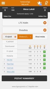 Tenis - Ligový portál screenshot 2