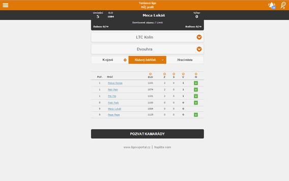 Tenis - Ligový portál screenshot 5