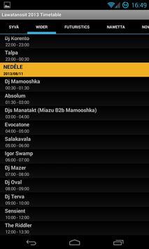 Lawatanssit 2013 Timetable apk screenshot