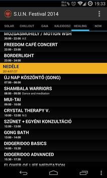 S.U.N. Festival 2014 Timetable apk screenshot