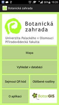 Botanická zahrada UPOL poster