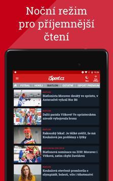 iSport.cz: sportovní zprávy, fotbal, hokej, tenis apk screenshot
