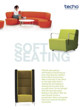 Soft Seating from Techo poster