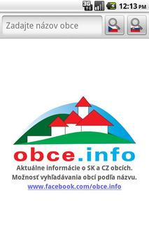 Obce.info poster