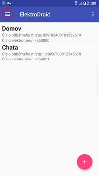 ElektroDroid - odečty elektrické energie (BETA) screenshot 4