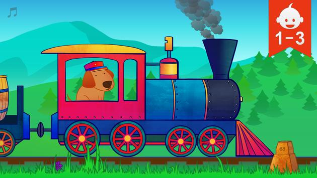 Animal Train for Toddlers poster