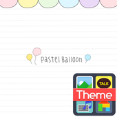 danji pastel balloon K icon