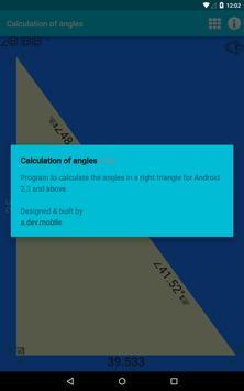 Calculation of angles apk screenshot