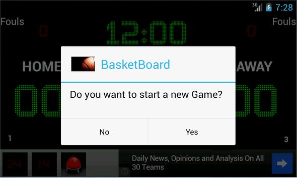 BasketBoard screenshot 2